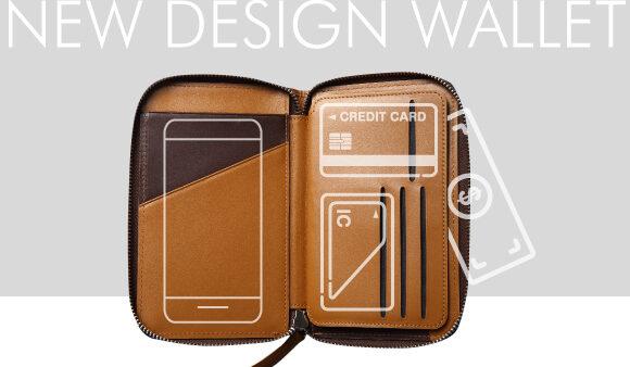 スマホ/紙幣/カード/鍵を全てスマートに収納【Daily Pocket】 フルグレインレザーの高級感あるデザイン!